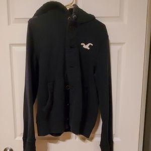 Hollister hoodie button Lg men
